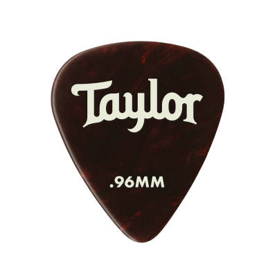 Celluloid 351 Picks, Tortoise Shell, 0.96mm, 12-Pack