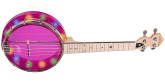 Gold Tone - Light-Up Little Gem See-Through Banjo-Ukulele with Lights - Amethyst