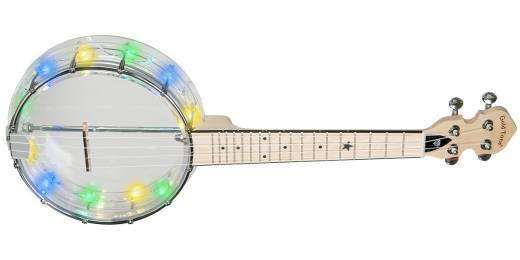 Light-Up Little Gem See-Through Banjo-Ukulele with Lights - Diamond