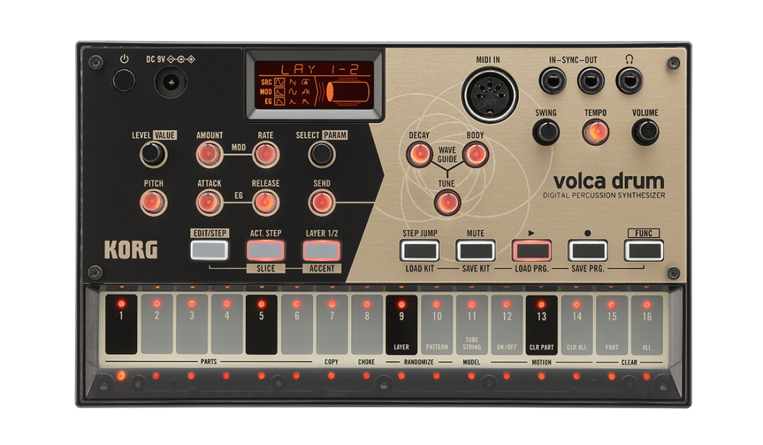 Korg - Volca Drum - Digital Percussion Synthesizer