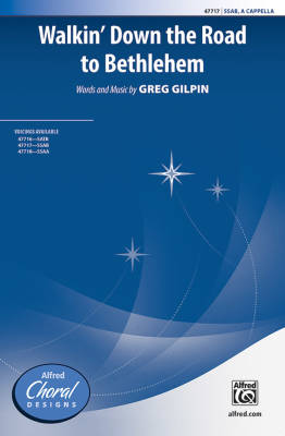 Alfred Publishing - Walkin Down the Road to Bethlehem - Gilpin - SSAB