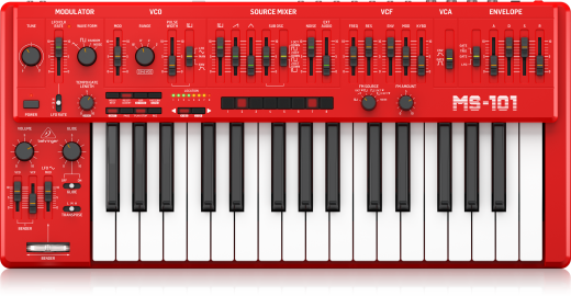 MS-101-RD Analog Synthesizer - Red