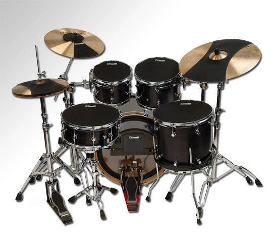hq percussion drum silencers fusion set long mcquade musical instruments. Black Bedroom Furniture Sets. Home Design Ideas