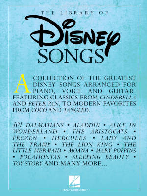 The Library of Disney Songs - Piano/Vocal/Guitar - Book