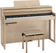 Roland - HP704 Digital Piano with Stand & Bench - Light Oak
