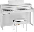 Roland - HP704 Digital Piano with Stand & Bench - White