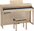 Roland - HP702 Digital Piano with Stand and Bench - Light Oak