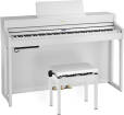 Roland - HP702 Digital Piano with Stand and Bench - White