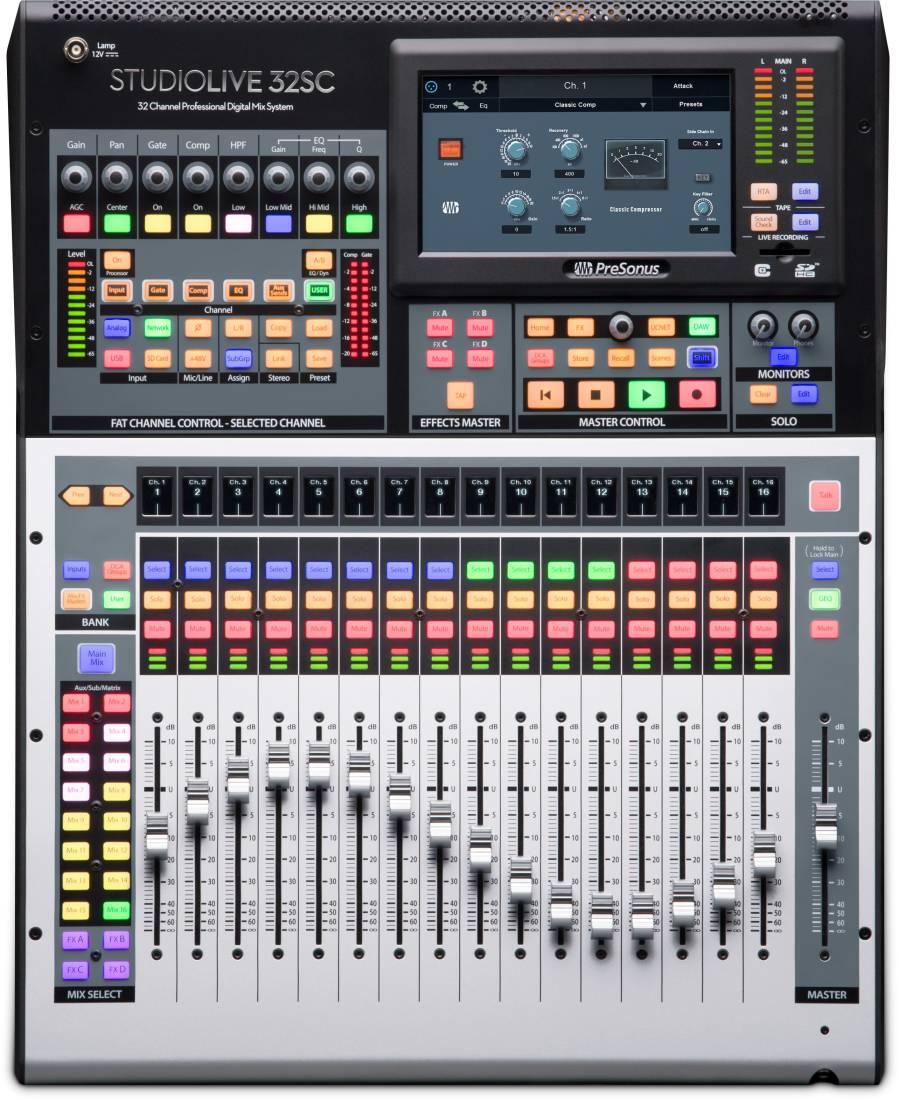 presonus studiolive 32sc 32 channel digital mixer and usb audio interface long mcquade. Black Bedroom Furniture Sets. Home Design Ideas