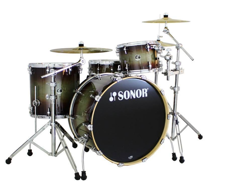 Sonor rocket 4 piece drum kit dark forest long for 13 inch floor tom