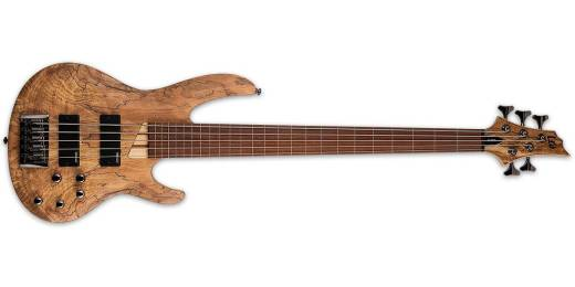 ESP Guitars - LTD B-205SM Fretless 5-String Bass - Natural Satin