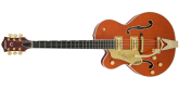 Gretsch Guitars - G6120TLH Players Edition Nashville with Bigsby, Left-Handed, FilterTron Pickups - Orange Stain