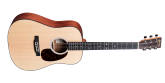 Martin Guitars - DJR-10E Dreadnought Junior Spruce/Sapele Acoustic/Electric Guitar with Gig Bag