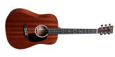 Martin Guitars - DJR-10E Dreadnought Junior Sapele Acoustic/Electric Guitar with Gig Bag