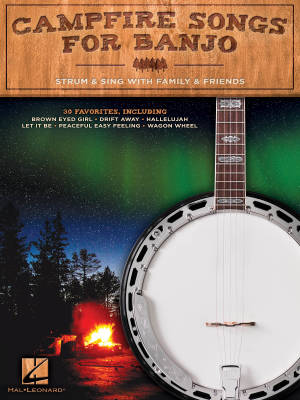 Campfire Songs for Banjo: Strum & Sing with Family & Friends - Banjo - Book