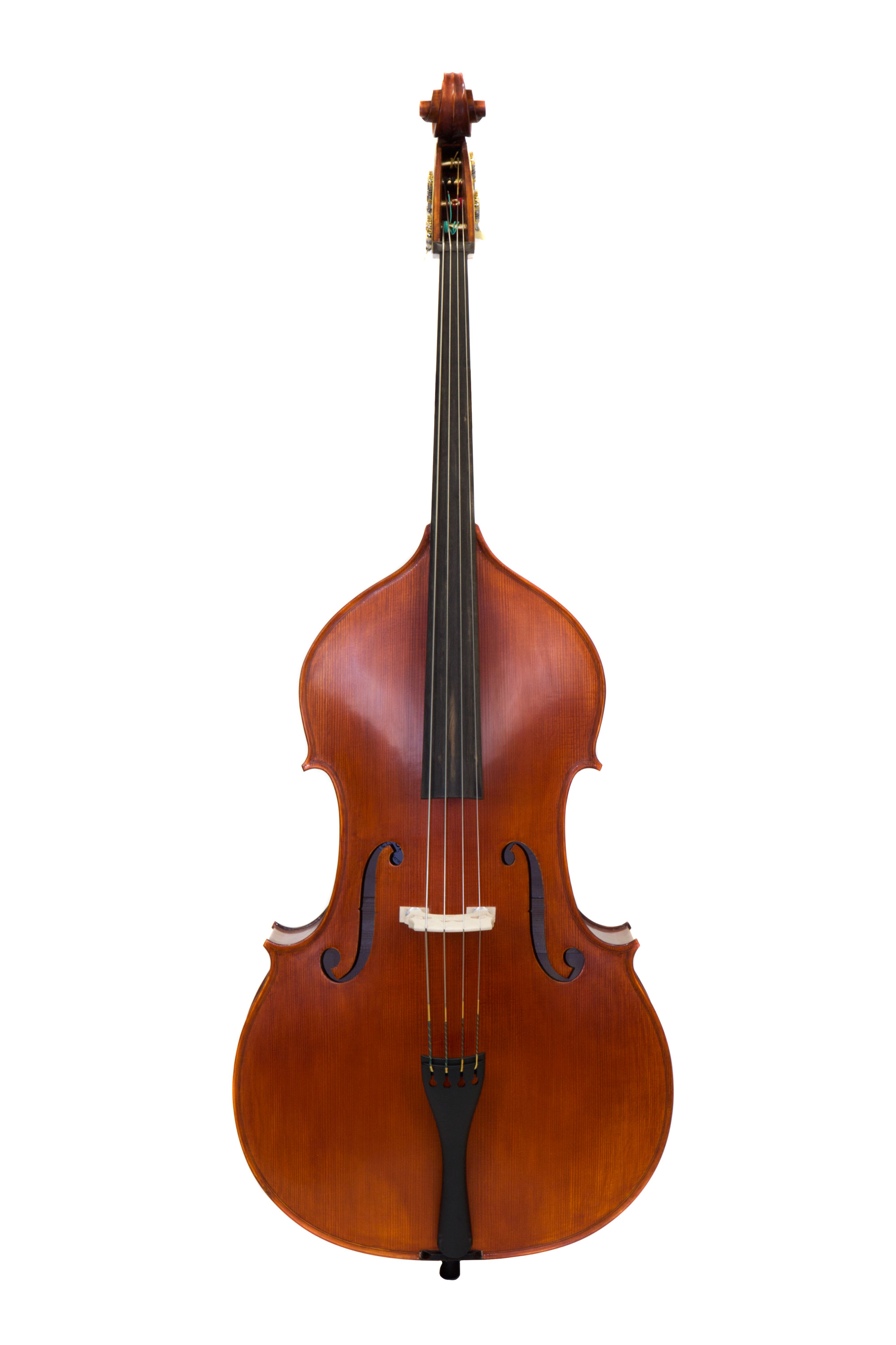 3/4 Carved Double Bass Outfit with Case and Bow