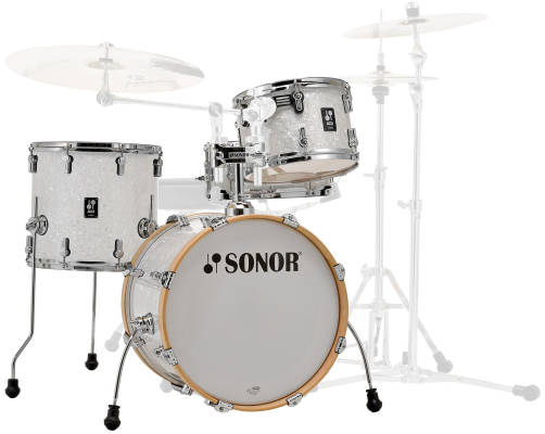 AQ2 Bop 4-Piece Drum Kit (18,12,14,14SD) - White Pearl