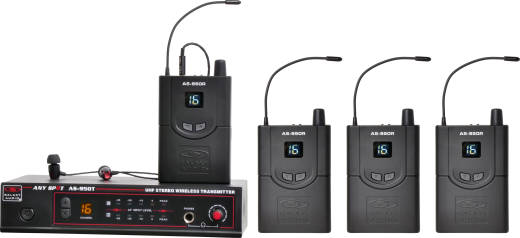 AS-950-4 Band Pack Wireless Personal Monitor System