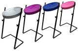 Panyard - Jumbie Jam Pans in G with Z-stand (4 Pack) - Assorted Colours
