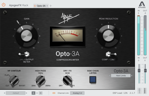 Opto-3A Optical Compressor/Limiter Plugin