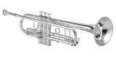 XO Professional Brass - 1602SS-R Professional Bb Trumpet with Reverse Leadpipe, .459 - Silver Plated