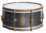 A&F Drum Co. - Raw Steel 8-Lug Snare 6.5x14
