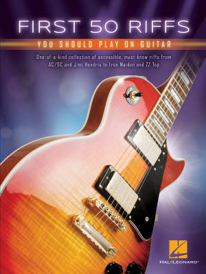 First 50 Riffs You Should Play on Guitar - Guitar TAB - Book