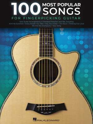 100 Most Popular Songs for Fingerpicking Guitar - Guitar TAB - Book