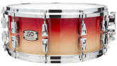 Yamaha - Limited Edition 50th Anniversary Absolute Hybrid Maple Snare 6x14  - Canadian Red Fade
