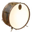 A&F Drum Co. - Raw Brass Royal Bass Drum 14x22