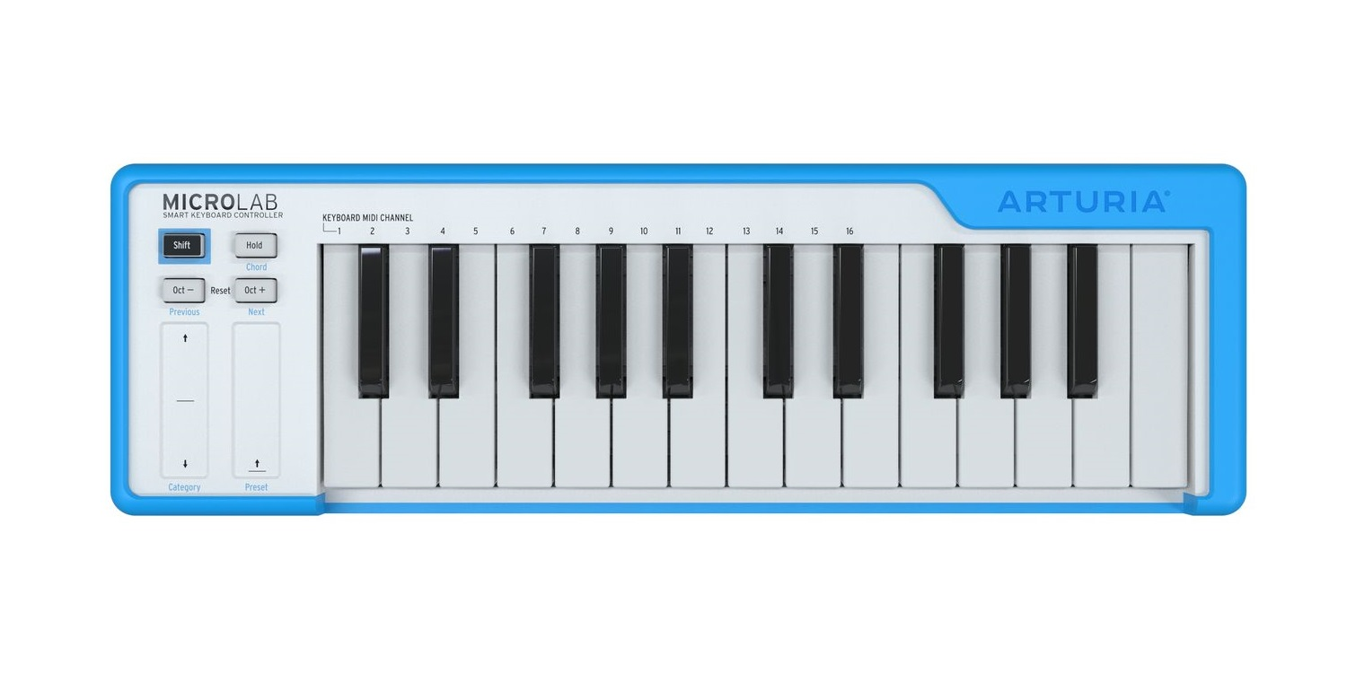 Arturia MicroLab 25-Mini Key MIDI Controller - Blue - Long