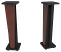 Zaor - Croce 42 Isolating Monitor Stands Matched Pair - Mahogany/Black