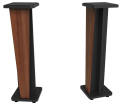 Zaor - Croce 42 Isolating Monitor Stands Matched Pair - Walnut/Black