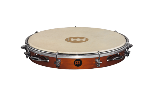 Traditional Wood Pandeiro - 10 Inch