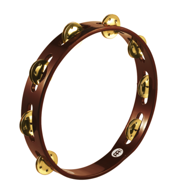 Traditional Wood Tambourine - Brass Jingles
