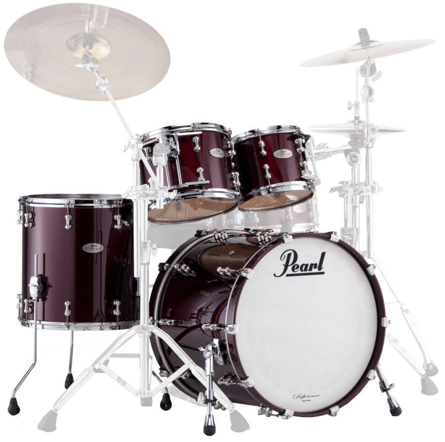 pearl reference pure 4 piece drum kit black cherry long mcquade musical instruments. Black Bedroom Furniture Sets. Home Design Ideas