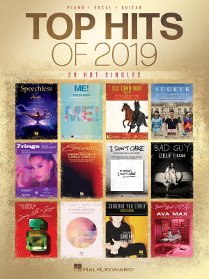 Top Hits of 2019 - Piano/Vocal/Guitar - Book