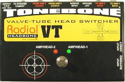 Headbone VT Valve/Tube Amp Head Switcher