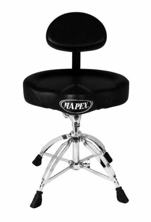 Mapex T775 Deluxe Saddle Seat Drum Throne With Back Rest