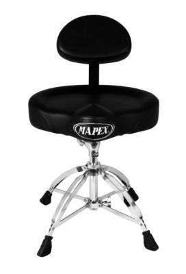 T775 - Deluxe Saddle-Seat Drum Throne with Back Rest
