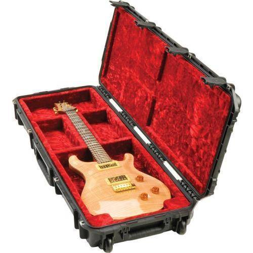 skb waterproof open cavity electric guitar case with wheels long mcquade musical instruments. Black Bedroom Furniture Sets. Home Design Ideas