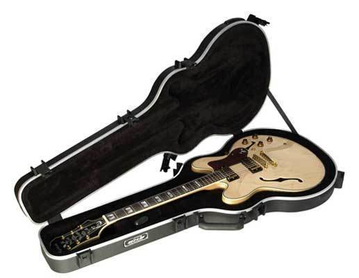 skb thin body semi hollow guitar case long mcquade musical instruments. Black Bedroom Furniture Sets. Home Design Ideas
