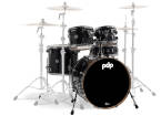 Pacific Drums - Concept Maple 5-Piece Shell Pack (22,10,12,16,SD) - Ebony Stain