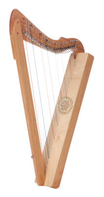 Fullsicle - 26 String - Full Levers - Special Edition Solid Cherry Wood with Celtic Knot Ornamentation