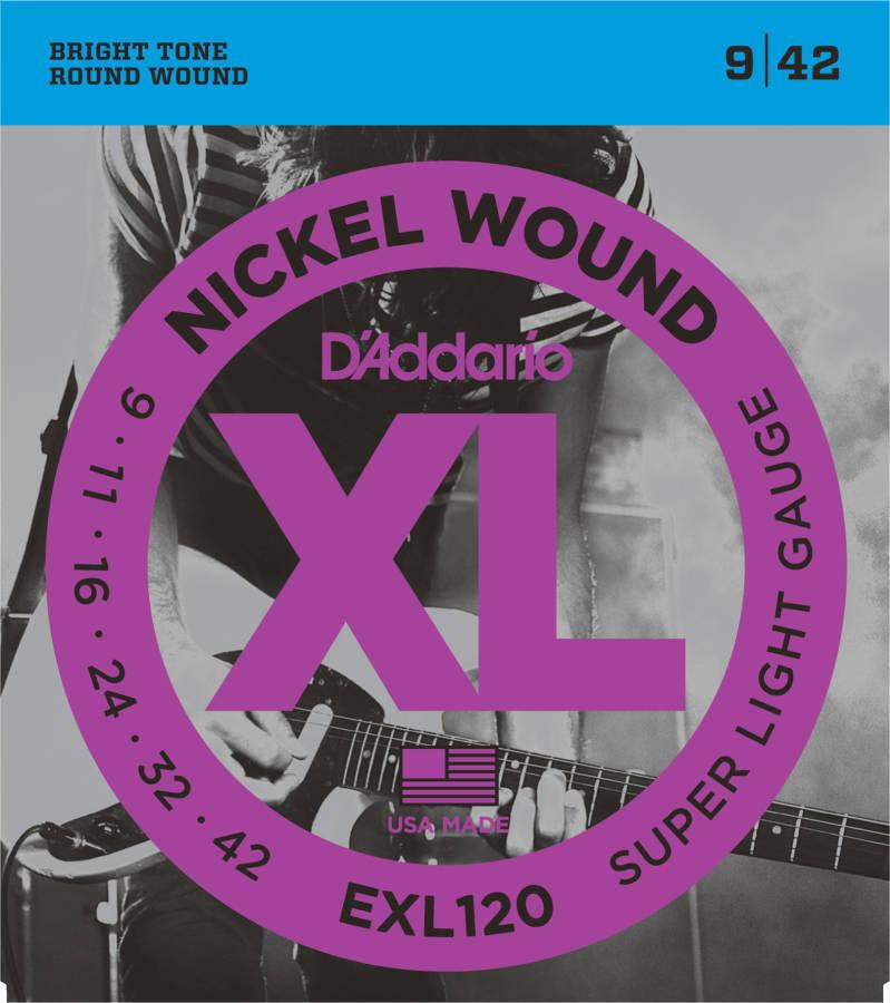 D Addario Exl120 Nickel Wound Super Light 09 42