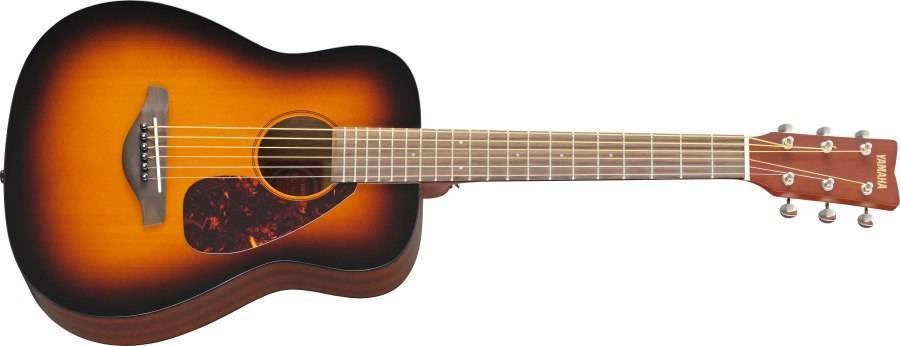 Yamaha jr2 compact guitar sunburst with solid top long for Where are yamaha guitars made