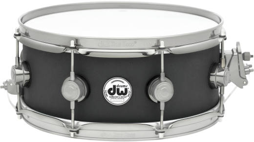 5.5x14'' Collector's Series Cast Aluminum Snare with Black Powder Finish and Satin Chrome Hardware
