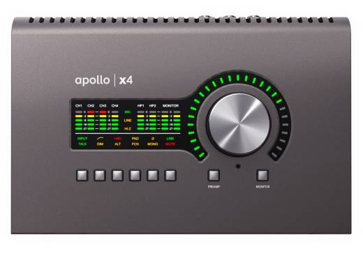 Apollo x4 Thunderbolt 3 Audio Interface w/UAD-2 QUAD Core Processing