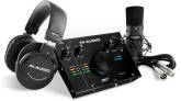 M-Audio - AIR 192|4 Vocal Studio Pro Kit with USB Interface, NOVA Black Microphone and HDH40 Headphones