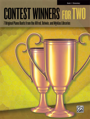 Contest Winners for Two, Book 1, Elementary - Piano Duet (1 Piano, 4 Hands) - Book